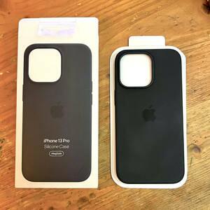 ☆ Apple 純正 iPhone 13 Pro 6.1インチ ブラック シリコーンケース/カバー USED 美品!