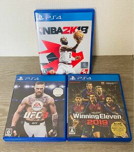 ps4 スポーツ3点セット ウイニングイレブン 2019 ufc3 nba2k 18 ウイイレ  PS4ソフト EA SPORTS