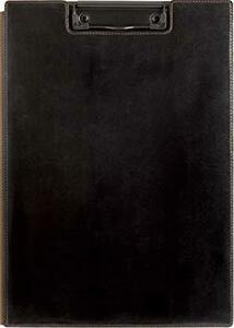 黒 キングジム クリップボード レザフェス A4 黒 1932LF黒