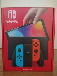 未使用 Nintendo Switch 有機ELモデル 任天堂 ニンテンドースイッチ 本体 Joy-Con ネオンブルー ネオンレッド 有機EL