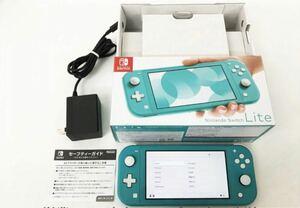 任天堂 Nintendo Switch Lite 本体 セット ターコイズ ニンテンドースイッチライト 動作確認済 箱あり