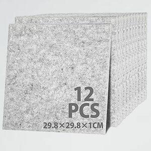 新品 未使用 吸音材 KOOPRO F-BV (縦29.8×横29.8×厚さ1cm(12枚セット), グレ-) 防音室 防音シ-ト 遮音壁 デッドニング 硬質ボ-ド