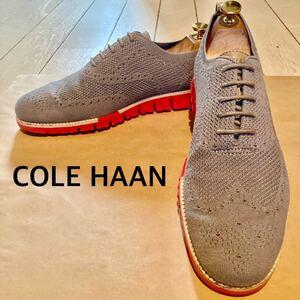 COLE HAAN(コールハーン)メッシュスニーカー ZERO GRAND ゼログランド グレー 灰色 サイズ10 約28cm 紳士靴 ビジネス 革靴 軽量