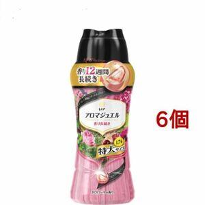 レノア ハピネス アロマジュエル 香り付け専用ビーズ ざくろブーケの香り 本体 特大 1.7(805mL) 6個セット