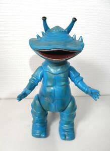 ◆当時物!マルサン 商店 カネゴン 1期 水色成型色◆ソフビ 怪獣 ブルマァク ウルトラQ 超合金