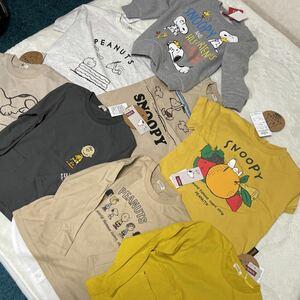スヌーピー 新品タグ付き 100㎝ 8枚セット トップス 長袖Tシャツ トレーナー 半袖