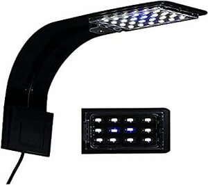 4W 黒 SenMeiGuang LEDアクアリウムライト 水槽 ライト(黒) 小型水槽ランプ 4W 長寿命 省エネ 水槽照明