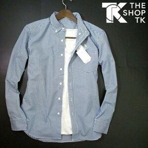 新品▼ タケオキクチ ギンガムチェック 長袖シャツ THE SHOP TK Lサイズ 紺 白 ネイビー ホワイト