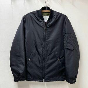 size36 USA製 SPIEWAK MA-1 スピワック 裾リブ無し フライトジャケット ブラック ビンテージ アメリカ製 黒 90s 90年代