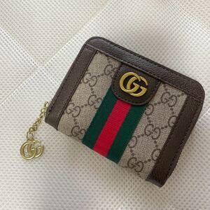 財布 ミニ財布 カード入れ財布 カードケース 薄手 英字柄 ゴールド ブラック