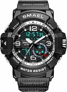 ブラック2 Panegy 腕時計 メンズ デジタル スポーツウォッチ 子供 腕時計 キッズ 防水 多機能 ウォッチ アラート 日