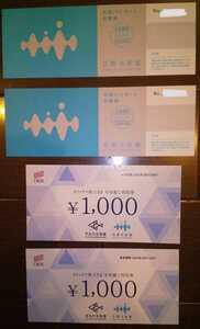 京都水族館 年間パスポート引換券2枚 水族館利用券2000円分セット
