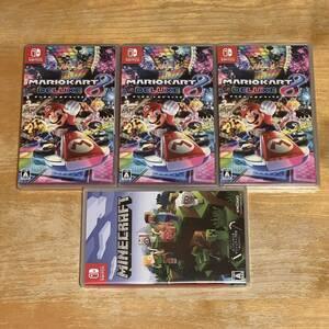 送料無料 新品未開封 マリオカート8デラックス×3個 マインクラフト×1
