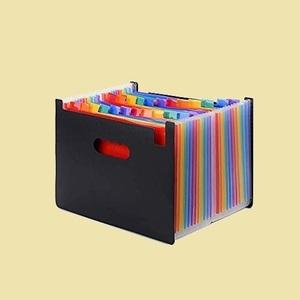 未使用 新品 A4 ドキュメントスタンド P-MF 整理 自立型 25ポケット ファイル ボックス 書類ケ-ス 収納ボックス
