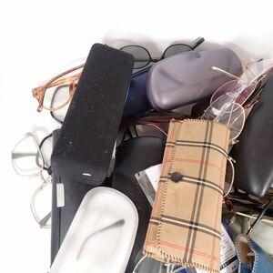 ジャンク 眼鏡 サングラス まとめて 約3㎏ ケース付き含む CAZAL 1点あり