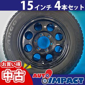 中古 15インチ ハイエース用 タイヤ&ホイール 4本セット 195/80 R15 加須店