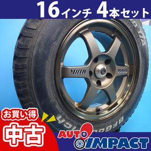 中古 16インチRAYS VOLKタイヤ&ホイール 4本セット 215/70 R16 加須店