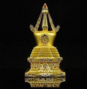 ♪1個 チベット仏教用品 銅合金仏舎利塔 仏塔 菩提塔