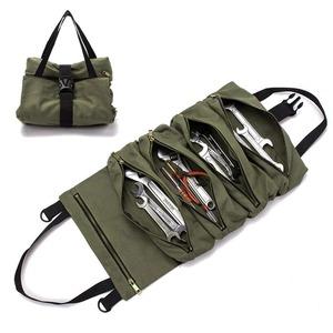 ロールツールポーチ 工具袋 多目的ツール ロールアップバッグ 工具箱 多機能 使い方自由