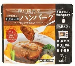レトルト 惣菜 芳醇煮込み ハンバーグ デミグラスソース 190g ×10袋 セット (神戸開花亭) (レンジ 簡単