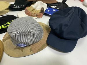 ●レディース ハットやキャップなど色々な帽子 MIX 福袋 まとめて まとめ売り セット 大量 洋服 古着 仕入れ ●