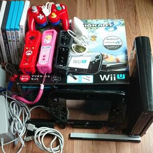 【引退品】ソフト7本 WiiU 本体 Wiiリモコン センサーバー Nintendo