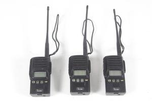 ICOM アイコム ハンディトランシーバー IC-UH25ACT 無線電話装置 無線機 3台セット 【ジャンク品】