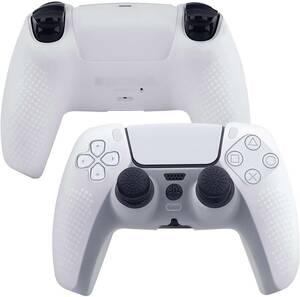新品 PS5コントローラー ソフトカバー ハンドルケース 2個付き(ホワイト)