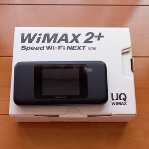 WiMAX2+ Speed Wi-Fi NEXT W06  ブラック×ブルー