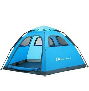 Moon Lence テント 4-5人用 ワンタッチテント 五角 アウトドア用 コンパクト キャンプ 防災 組立簡単 通気