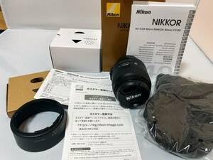 【極上美品】 Nikon ニコン レンズ NIKKOR LENS DX AF-S Micro 40mm 1:2.8G 保証書 取説 ケース フード フィルター 即決送料無料 44
