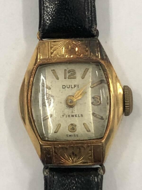 DULFI 腕時計 18k 0.750 刻印あり 17JEWELS ジャンク品