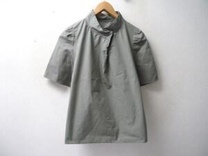 ◆Ray BEAMS レイビームス 17ss  RBS バックオープンスタンドカラーブラウス シャツ カーキ サイズ1 美品