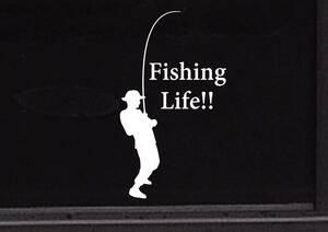 フィッシング 釣り 魚釣り 海 海釣り 川 川釣り レジャー アウトドア2◆オリジナルステッカー◆