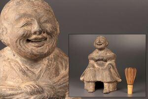 陶器製 人物 置物 床置 彫刻 骨董品 美術品 8300tddz