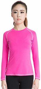 ローズ2039 XL スポーツシャツ レディース 長袖 [UVカット・吸汗速乾] コンプレッションウェア パワーストレッチ イン