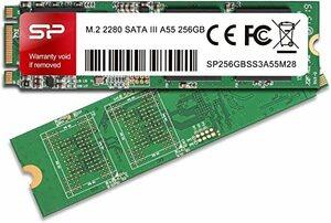 256GB シリコンパワー SSD M.2 2280 3D TLC NAND採用 256GB SATA III 6Gbps 3年