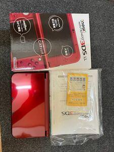 【極美品】Newニンテンドー3DS LL メタリックレッド