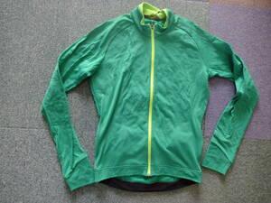 MAVEC メンズO グリーン 長袖 COLDRIDE 0-15℃ レギュラーフィット サイクリング AKSIUM THERMO LS JERSEY新品 定価11860