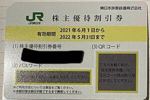 JR東日本 株主優待割引券 有効期限 2022.5.31