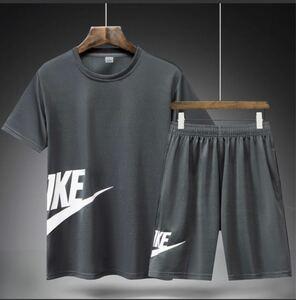 半袖 メンズ 短パン ショートパンツ 上下セット2点 スポーツウェア XXL グレーグレー 大人気ジャージ