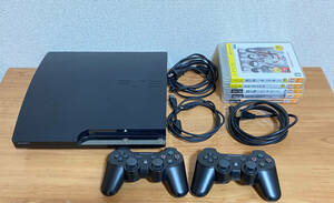 SONY PlayStation 3 (CECH-2100A) PS3 コントローラー2個 ソフト5本 セット