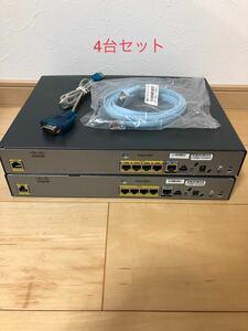 【CCNA、CCNP】ルータ4台セットCisco861