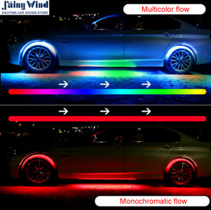 (2162)新品 簡単取付け 車 スマホ連動 LED イルミネーション アンダーネオン ネオン ストリップライト カスタム おすすめ