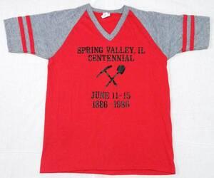 USA製 80s Bantam ラグランスリーブ Vネック Tシャツ シングルステッチ made in usa ビンテージ