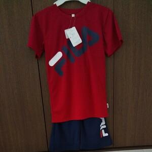 FILA 新品 未使用 150 キッズ 半袖Tシャツ ハーフパンツ スポーツ 上下セット セットアップ トレーニングウェア