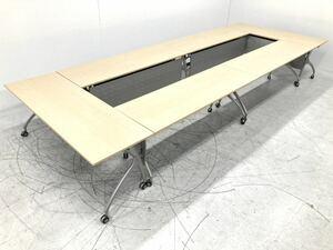 イトーキ リリッシュ スタックテーブル 6台セット 約36万 ミーティングテーブル 折り畳み 会議用 パネル付き 棚付き 収納机