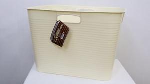 フリーバケツ サイズ/L カラー/バニラ 防水ボックス 日本製