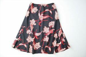 日本製◆EPOCA◆秋◆極上◆綺麗な和柄フラワーデザイン フレア スカート ◆サイズM◆エポカ
