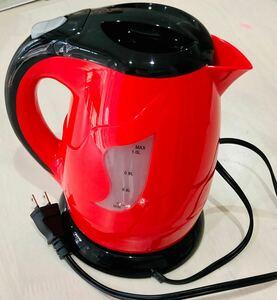 新品未使用『リッチカフェ エレクトリックケトル』1リットル  送料無料  _φ(・_・コードレス電気ポット_φ(・_・ 電気ケトル